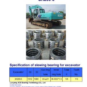 slewing bearing for kobelco excavator SK200-5