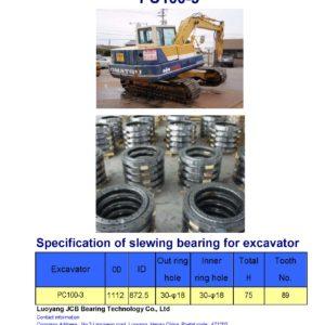 slewing bearing for komatsu excavator PC100-3