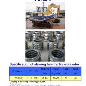 slewing bearing for komatsu excavator PC100-5