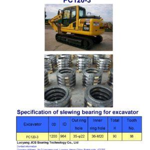 slewing bearing for komatsu excavator PC120-3