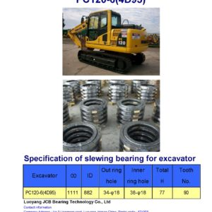 slewing bearing for komatsu excavator PC120-6-4D95