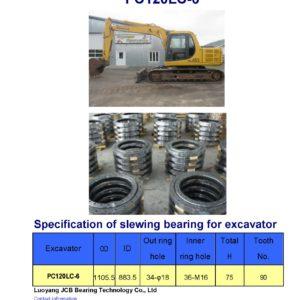 slewing bearing for komatsu excavator PC120LC-6