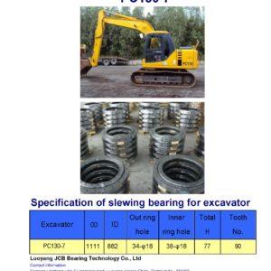 slewing bearing for komatsu excavator PC130-7
