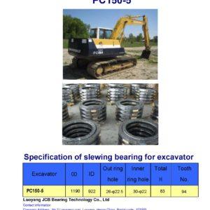 slewing bearing for komatsu excavator PC150-5