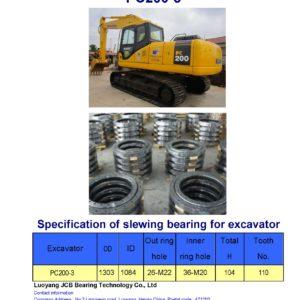 slewing bearing for komatsu excavator PC30-2 tooth 92 (swing