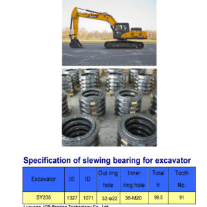 slewing bearing for sany excavator SY235