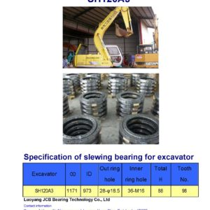 slewing bearing for sumitomo excavator SH120A3
