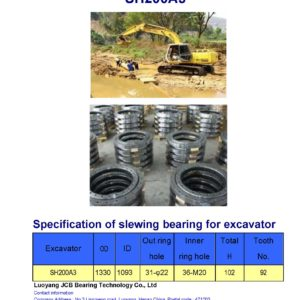 slewing bearing for sumitomo excavator SH200A3