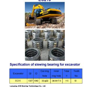slewing bearing for volvo excavator EC210