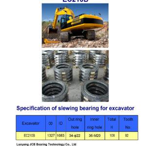 slewing bearing for volvo excavator EC210B