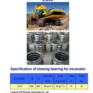 slewing bearing for volvo excavator EC55