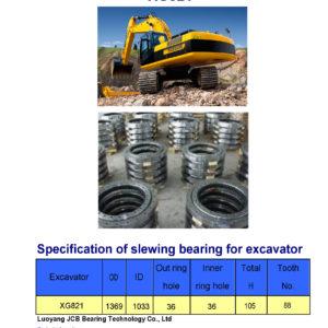 slewing bearing for xiagong excavator XG821