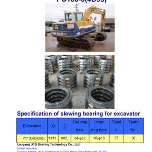 slewing bearing for komatsu excavator PC100-6-4D95
