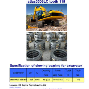 slewing bearing for atlas excavator atlas3306LC tooth 115