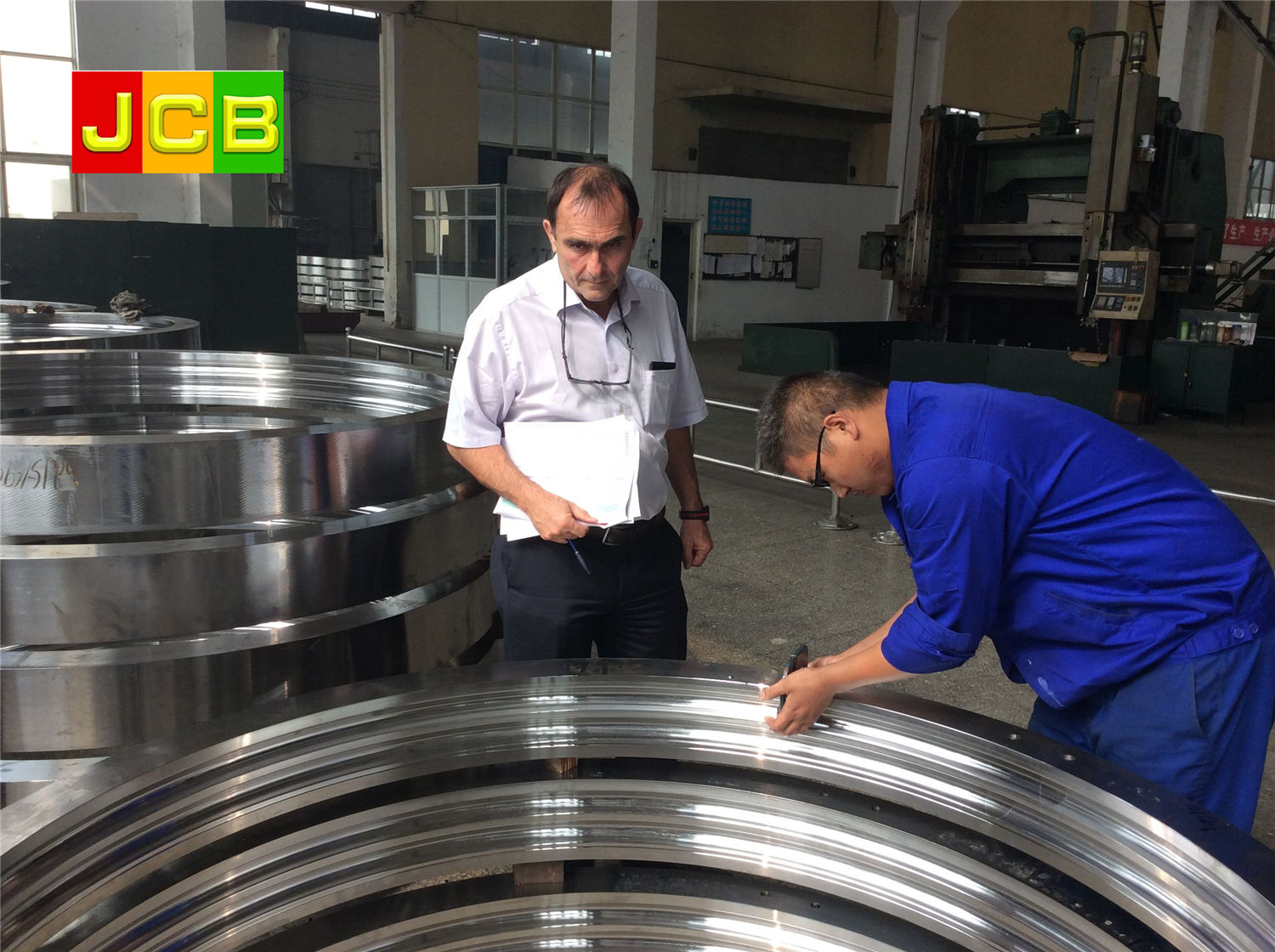 workshop of JCB bearing company